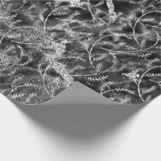 Papier Cadeau Abrégé sur floral de marbre laurier d'aluminium de