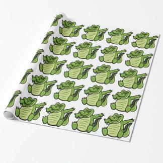 Papier Cadeau Alligator tamponnant d'animaux