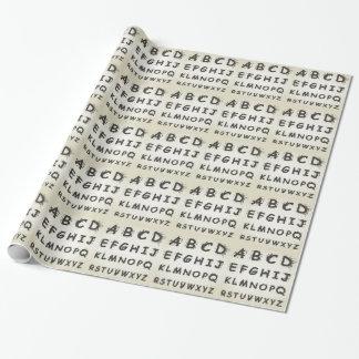 Papier Cadeau Alphabet une tache