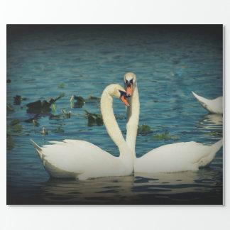 Papier Cadeau Amour 2 de cygne