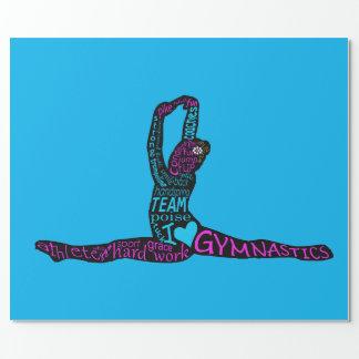 Papier Cadeau Amusement de gymnastique enveloppant Papper