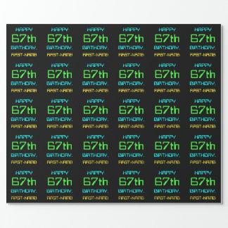 Papier Cadeau Amusement Digital calculant le soixante-septième