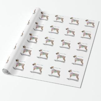 Papier Cadeau Anatomie des cadeaux d'un chien de boxeur