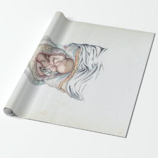 Papier Cadeau Anatomie vintage d'un nourrisson humain dans