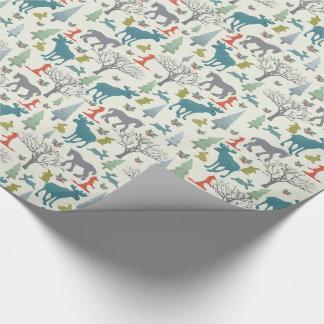 Papier Cadeau Animaux dans le papier d'emballage de forêt de