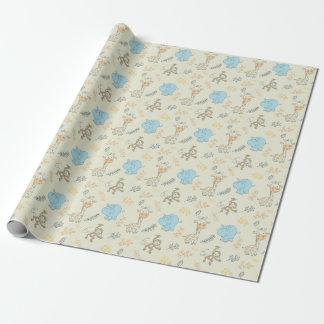 Papier Cadeau Animaux mignons de bébé pour le papier d'emballage