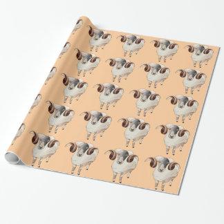 Papier Cadeau Année de papier d'emballage de moutons