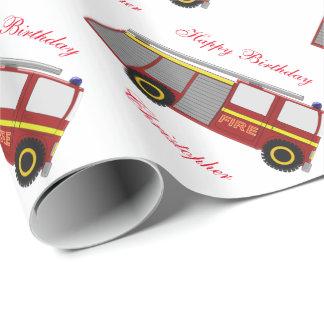 Papier Cadeau Anniversaire de camion de pompiers