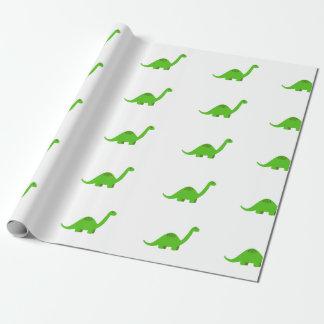 Papier Cadeau Anniversaire de papier d'emballage de dinosaure