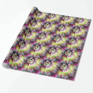 Papier Cadeau Aquarelle de colorant de cravate de kiwi