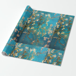 Papier Cadeau Arbre de fleur de turquoise de Van Gogh