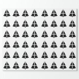 Papier Cadeau Arbre de Noël cornouaillais de drapeau