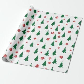Papier Cadeau Arbres de Joyeux Noël