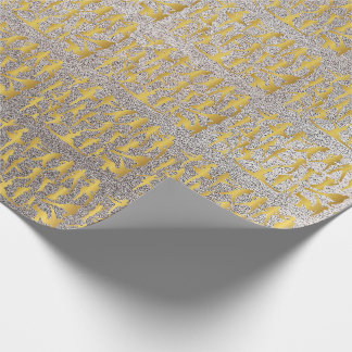 Papier Cadeau Argent classique moderne d'or de danse de hip hop