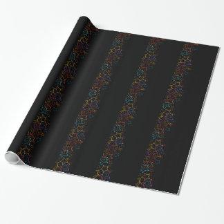 Papier Cadeau Arrière - plan avec les étoiles colorées
