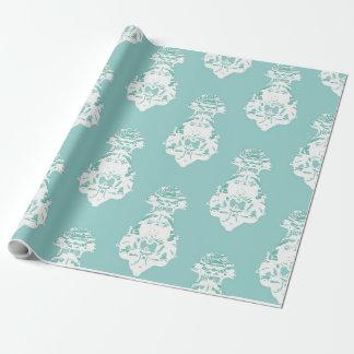 Papier Cadeau Arrière - plan vert vintage