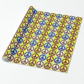 Papier Cadeau Art de bruit de signe de paix