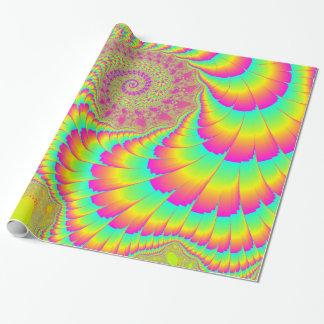 Papier Cadeau Art en spirale infini psychédélique lumineux de
