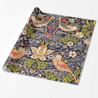 Papier Cadeau Art floral Nouveau de voleur de fraise de William