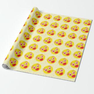 Papier Cadeau Baiser Emoji de Valentine