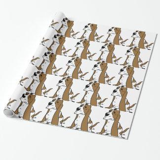 Papier Cadeau Bande dessinée de chien de basset
