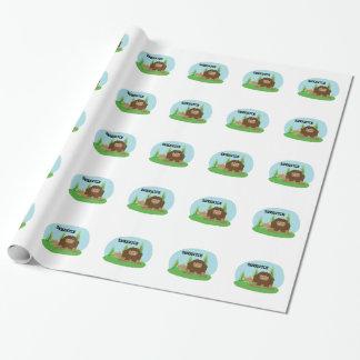 Papier Cadeau Bande dessinée mignonne Sasquatch