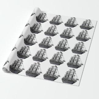 Papier Cadeau Bateau de pirate mystique