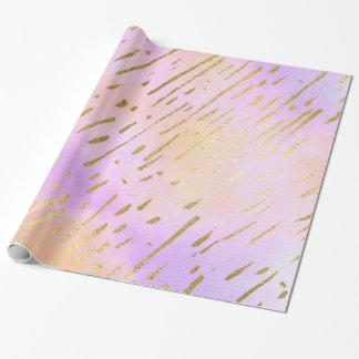 Papier Cadeau Beau rose et or