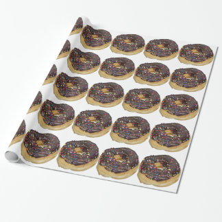 Papier Cadeau Beignet de givrage de chocolat