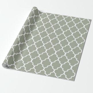 Papier Cadeau Blanc sur la couleur faite sur commande sage