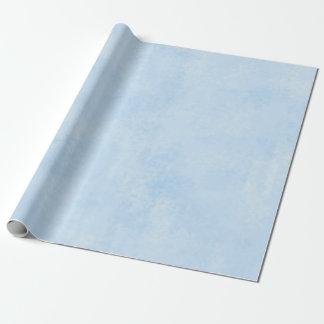 Papier Cadeau bleu-clair épongé