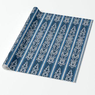 Papier Cadeau Bleu de motif de Viking