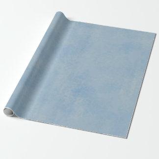 Papier Cadeau Bleu épongé
