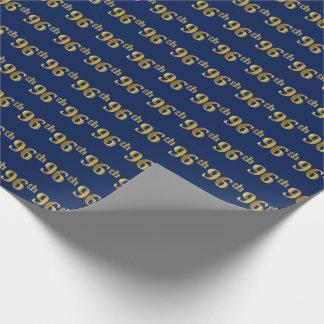 Papier Cadeau Bleu, événement d'or quatre-vingt-seizième de Faux