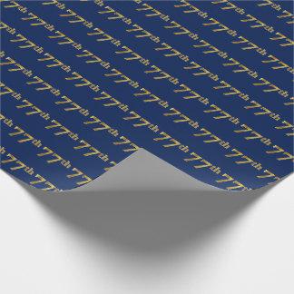 Papier Cadeau Bleu, événement d'or soixante-dix-septième de Faux