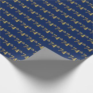 Papier Cadeau Bleu, événement d'or soixante-quatorzième de Faux