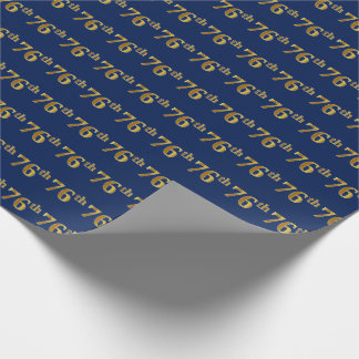 Papier Cadeau Bleu, événement d'or soixante-seizième de Faux