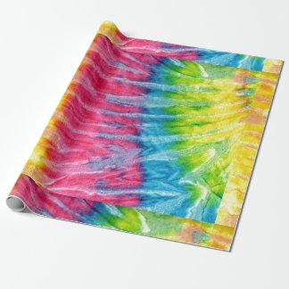Papier Cadeau Boho hippie teignent en nouant