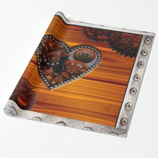 Papier Cadeau Boîte principale grunge de coeur d'horloges et de