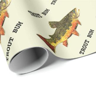 Papier Cadeau Bon à rien de truite de pêche de mouche
