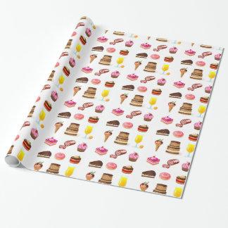 Papier Cadeau Bonbons et sucreries