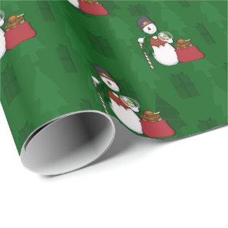 Papier Cadeau Bonhomme de neige dans Tophat