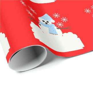 Papier Cadeau Bonhomme de neige de Milou II