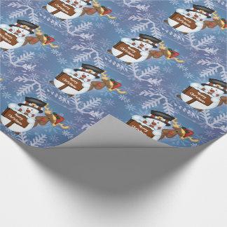 Papier Cadeau Bonhomme de neige et renne