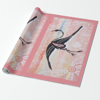 Papier Cadeau Brolga rêvant le papier d'emballage 2