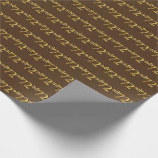 Papier Cadeau Brown, événement d'or soixante-douzième de Faux