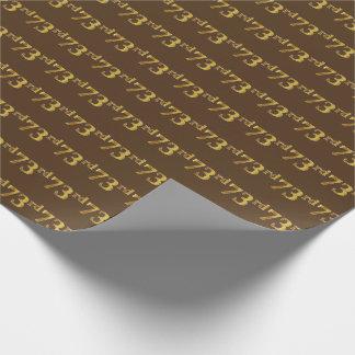 Papier Cadeau Brown, événement d'or soixante-treizième de Faux