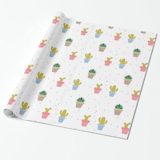 Papier Cadeau Cactus mignon