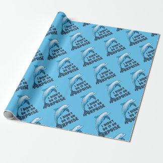 Papier Cadeau Calembour animal drôle de marsouin
