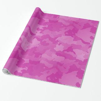 Papier Cadeau Camo rose